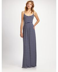 Rachel Pally | Blue Blanca Striped Modal Low-back Maxi Dress | Lyst