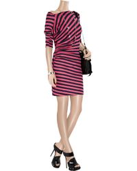 Vivienne Westwood Anglomania - Pink New Ariana Striped Stretch-linen Dress - Lyst
