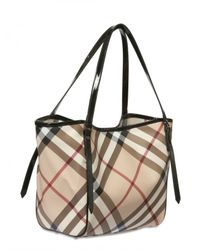 Burberry - Natural Small Canterbury Check Tote - Lyst