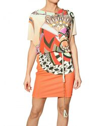 Etro - Multicolor Printed Jersey Dress - Lyst