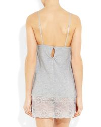 Juicy Couture - Gray Beautiful Dreamer Lace-Trimmed Jersey Nightdress - Lyst
