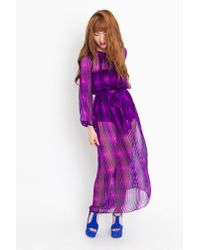 Nasty Gal - Purple Penelope Silk Maxi Dress - Lyst