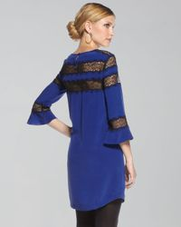 Rebecca Taylor - Blue Romantic Lace-inset Tunic (cusp Top Seller!) - Lyst