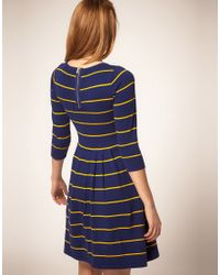ASOS Collection - Blue Asos Striped Knit Dress - Lyst