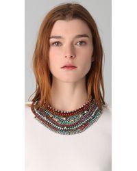Iosselliani - Multicolor Crystal & Stone Collar Necklace - Lyst