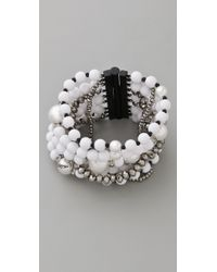 Juicy Couture | White Pearl & Resin Multi Strand Bracelet | Lyst