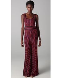 M Missoni - Purple Dot & Dash Wide Leg Jumpsuit - Lyst