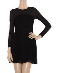 Proenza Schouler - Black Cutout-back Stretch-crepe Dress - Lyst