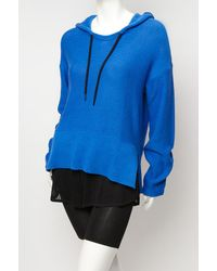 T By Alexander Wang | Blue Hooded Poncho | Lyst