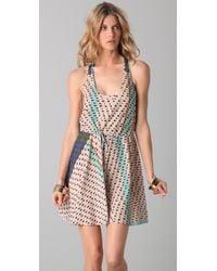 Twelfth Street Cynthia Vincent | Multicolor Print Racer Back Flounce Dress | Lyst