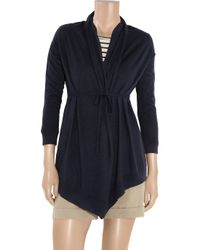 Vince - Blue Tie-Front Draped Cardigan - Lyst