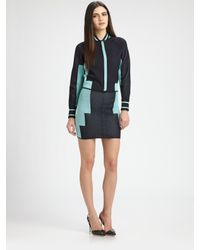 Alexander Wang | Blue Engineered Track Suit Mini Skirt | Lyst