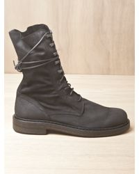 Ann Demeulemeester | Black Mens Scamosciato Boots for Men | Lyst