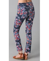 Citizens of Humanity - Blue Mandy Floral Roll Up Jeans - Lyst