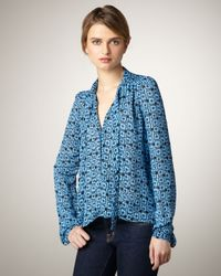 Elizabeth and James | Blue Jamie Mod-Print Blouse | Lyst