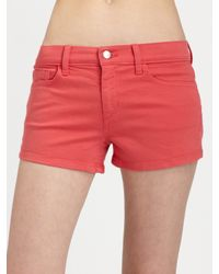 Joe's Jeans | Red 55 Color Shorts | Lyst