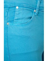 TOPSHOP - Blue Turquoise Skinny Leigh Jeans - Lyst