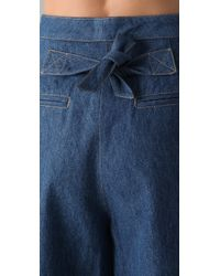 Sonia Rykiel | Blue Cropped Wide Leg Denim Pants | Lyst