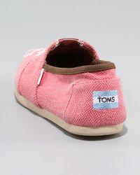 TOMS - Pink Skull Slip-on, Salmon - Lyst