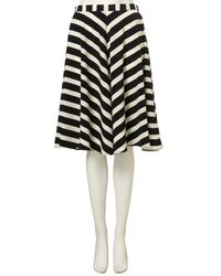 TOPSHOP | Black Stripe Full Circle Skirt | Lyst