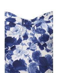 TOPSHOP | Blue Porcelain Flower Print Corset | Lyst