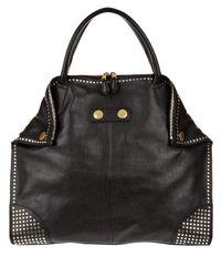 Alexander McQueen | Black Studded De-manta Tote Bag | Lyst