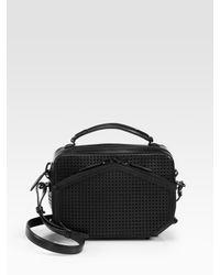 Alexander Wang | Black Rafael Perforated Leather Shoulder Bag | Lyst