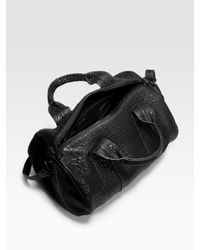 Alexander Wang - Black Rocco Lambskin Top Handle Bag - Lyst