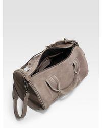 Alexander Wang - Gray Rocco Lasercut Leather & Velvet Satchel - Lyst