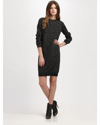 A.P.C. | Black Dotted Shift Dress | Lyst