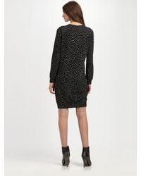 A.P.C. | Black Dotted Shift Dress | Lyst