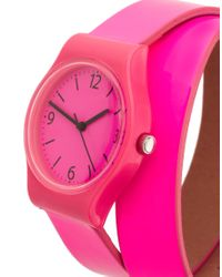 ASOS Collection | Asos Neon Pink Double Strap Watch | Lyst
