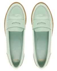 ASOS - Green Asos Macabee Patent Loafer - Lyst