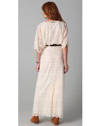 Beyond Vintage | White Blouson Lace Gown | Lyst