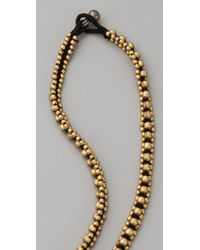 Chan Luu | Black Labradorite & Crystal Triple-strand Necklace | Lyst