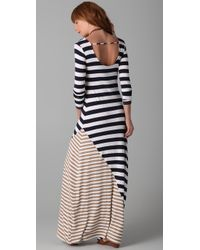 Ella Moss   Blue Chelsea Striped Maxi Dress   Lyst