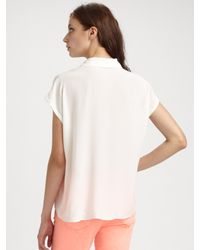Equipment - White Leandra Blouse - Lyst