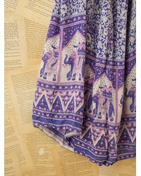 Free People - Vintage Blue Indian Gauze Dress - Lyst