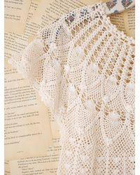 Free People | White Vintage Crochet Top | Lyst