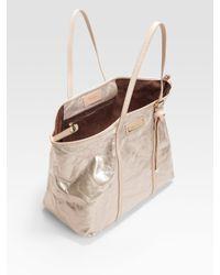 Jimmy Choo - White Sasha Mirror Leather Tote Bag - Lyst