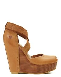 Lucky Brand - Brown Nana Leather-covered Wedges - Lyst