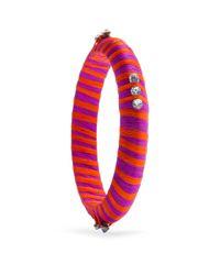 Mango - Orange Coulored Yarn Bracelet - Lyst