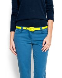 Mango | Green Shiny Slim Waist Belt | Lyst