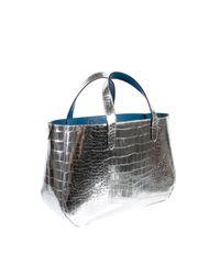 Marc Jacobs | Gold Silver Metallic Croc-embossed Calfskin | Lyst
