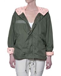 Mr & Mrs Italy | Green Hooded Gabardine & Lace Sport Jacket | Lyst