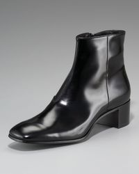 Prada | Black Cuban-heel Dress Boot | Lyst