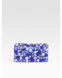 Prada | Blue Cabochon & Rhinestone Raso Clutch | Lyst