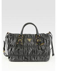 Prada | Gray Tessuto Gaufre Nylon Tote Bag | Lyst