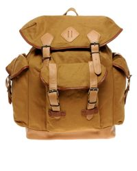 River Island | Brown Canvas Backpack for Men | Lyst