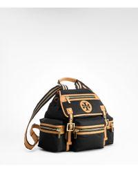Tory Burch - Black Nylon Logo Backpack - Lyst